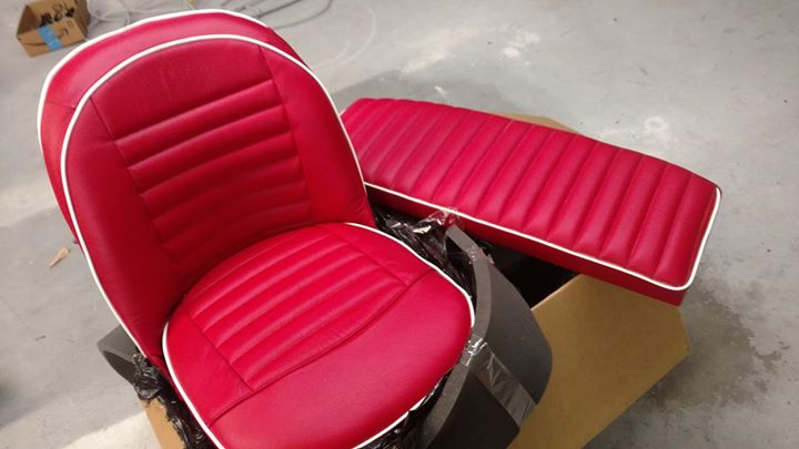 Got 2 sets of custom made Leather TR3 seats delivered t...
